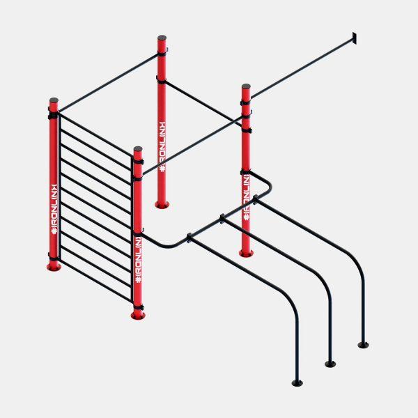 Strutture a muro calisthenics – IRONLINK – Cubo W S P Freestyle